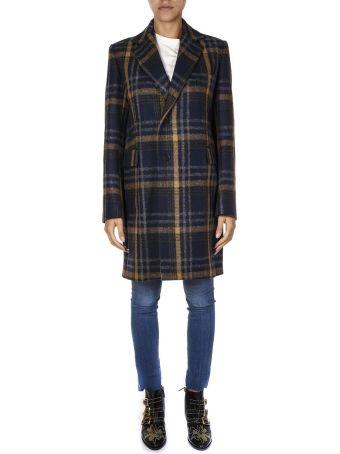Acne Studios Check Print Wool Coat