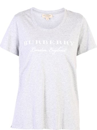 Burberry Grey Branded T-shirt
