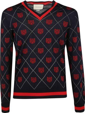 Gucci Tiger Argyle Sweater