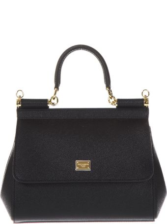Dolce & Gabbana Mini Sicily Black Leather Bag