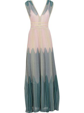 M Missoni Pleated Long Dress