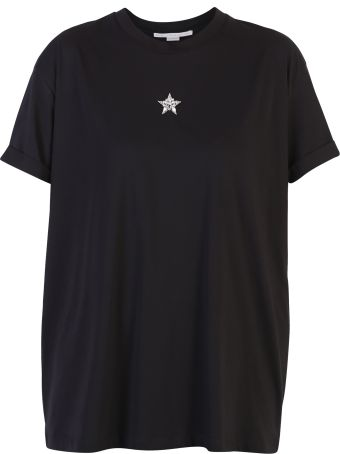 Stella McCartney Black Star Detail T-shirt