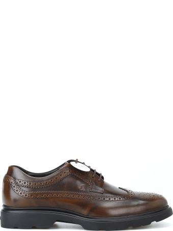 Hogan H393 Derby Brogue Brown Lace-up Shoes