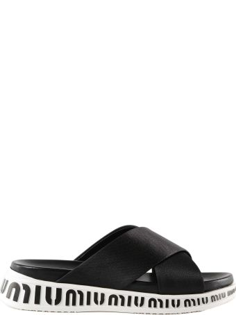 Miu Miu Nylon Tech Flat Sandals