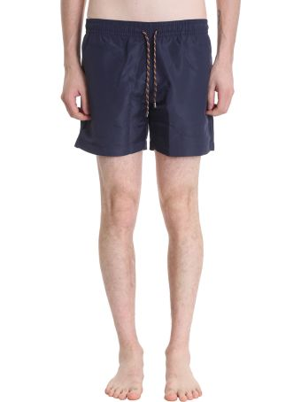 Stella McCartney Blue Polyamide Boxer Swimwear