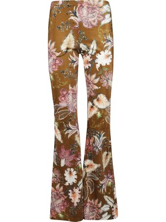 Black Coral Alba Floral Trousers