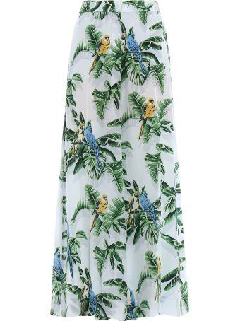 Stella McCartney Trousers Silk Bird Of Paradis