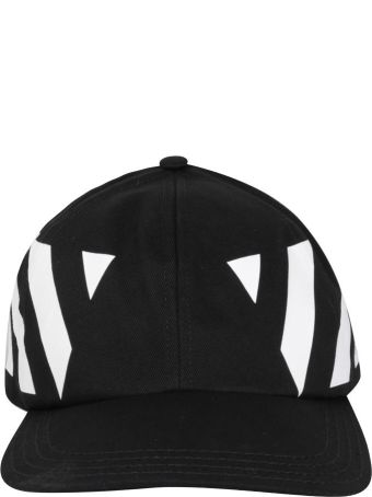 Off-White Diagonal Cotton Cap