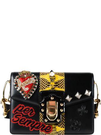 Dolce & Gabbana Calfskin Printed Shoulder Bag