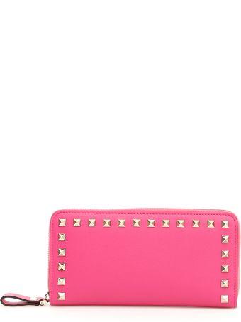 Valentino Rockstud Zip-around Wallet