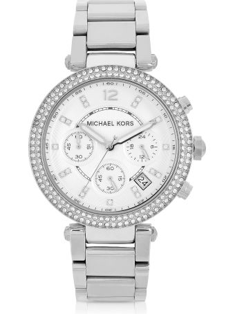 Michael Kors Parker Stainless Steel Chronograph Glitz Watch Women's Watch