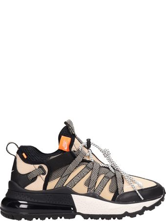 Nike Air Max 270 Black/desert Technical Fabric Sneakers