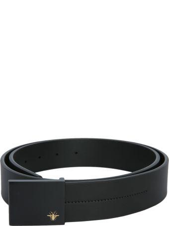 Dior Homme Belt With Metal Opaque Buckle