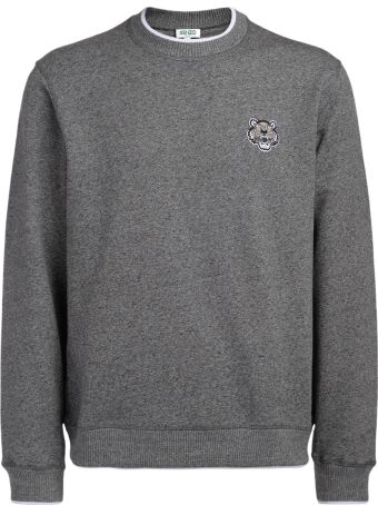 Kenzo Grey Fleece With Tiger Logo