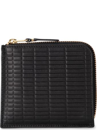 Comme des Garçons Wallet Comme Des Garçons Brick Line Black Leather Wallet