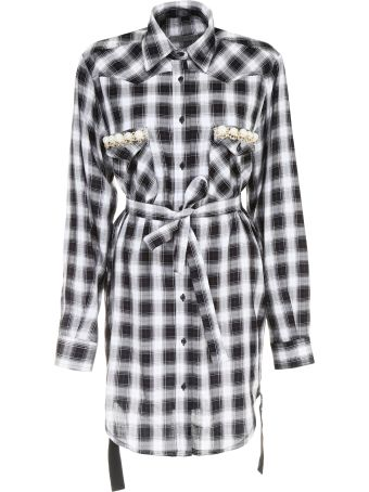 Shirt Dress With Pearls