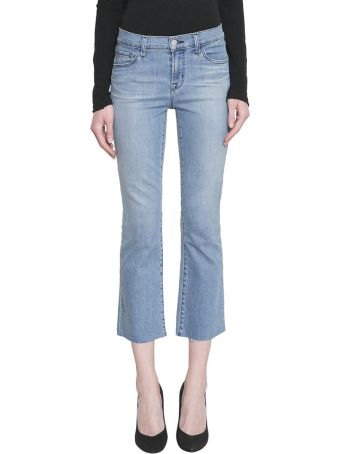 J Brand Selena Mid Rise Crop Cotton Denim Jeans