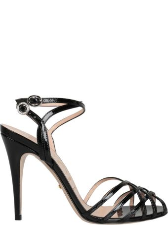 Gucci Metallic Leather Sandals