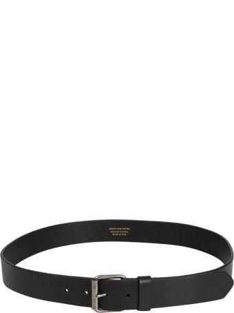 Dries Van Noten Black Leather Belt
