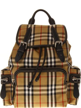 Burberry Rucksack Checked Canvas Backpack