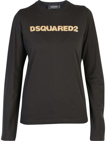 Dsquared2 Black Branded T-shirt