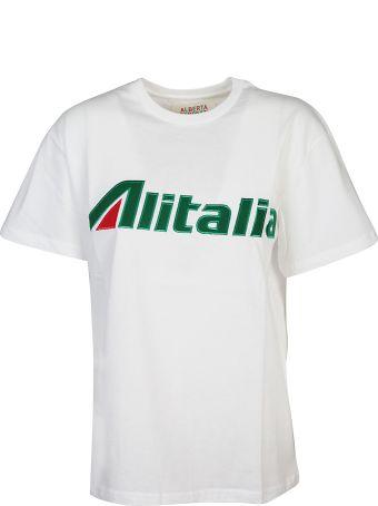 Alberta Ferretti Alitalia Patch T-shirt