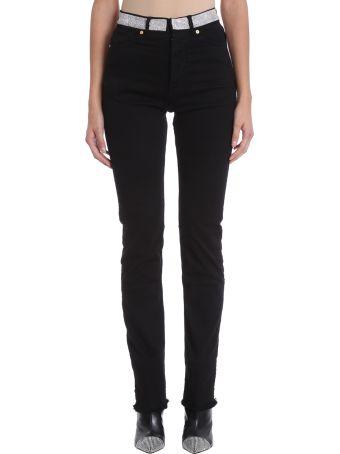 Alexandre Vauthier Crystal Belt Denim Jeans