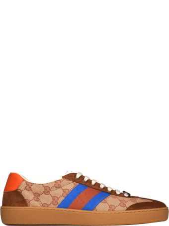 Gucci G74 Original Gg Sneakers With Web Brick Red/beige