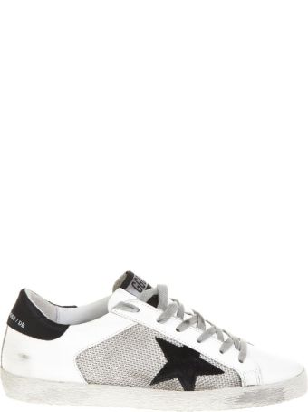 Golden Goose Superstar White Leather & Nylon Sneakers