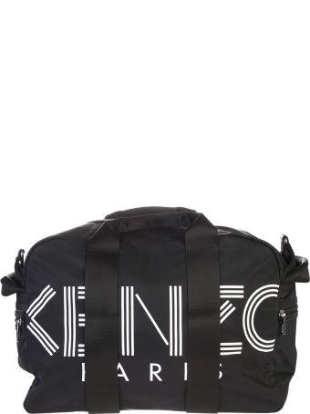 Kenzo Black Branded Duffle Bag