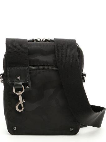 Valentino Camouflage Noir Messenger Bag