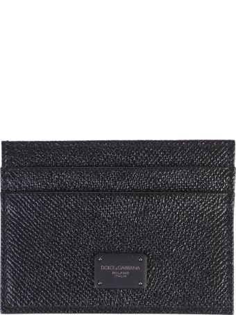 Dolce & Gabbana Black Branded Card Holder