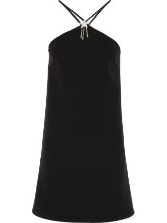 Miu Miu Mini Dress With Criss-crossing Straps And Star