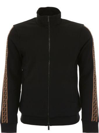 Fendi Zipped Sweatshirt With Ff Logo
