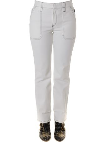 Chloé White Jeans Pants In Cotton