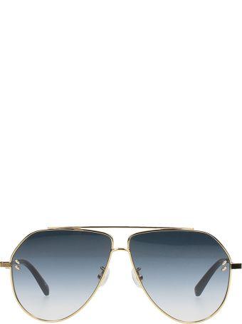 Stella McCartney Aviator Sunglasses Golden Steel
