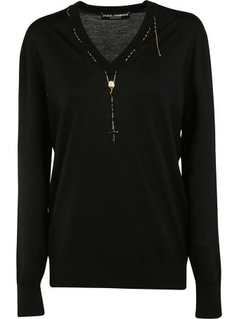 Dolce & Gabbana Rosary Detailed Sweater