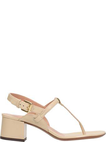 L'Autre Chose Beige Suede Leather Sandals