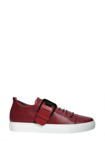 Low-top Square Buckle Sneakers