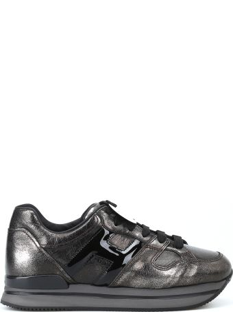 Hogan H222 Metallic Leather Lace-up Sneakers