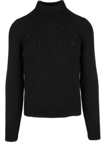 Prada Embroidered Logo Sweater
