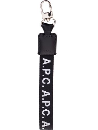 A.P.C. Leather Keychain