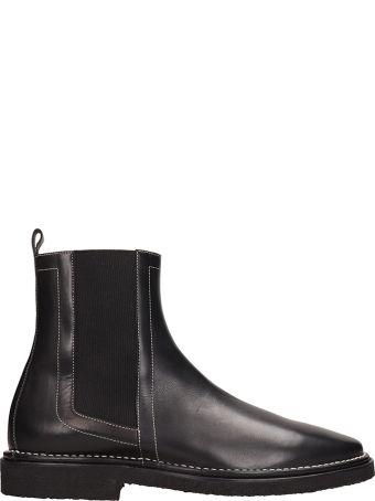 Pierre Hardy Black Leather Desert Chelsea Boots