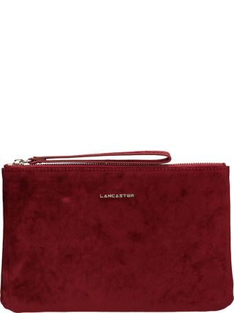 Lancaster Paris Burgundy Velvet Clutch