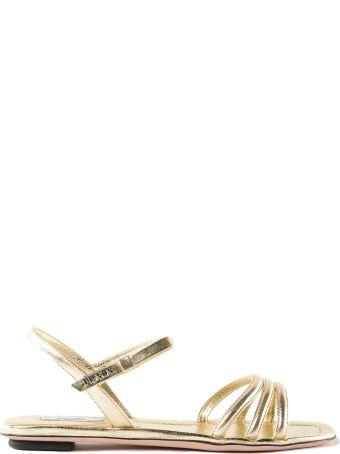 Miu Miu Glitter+capretto Sandal