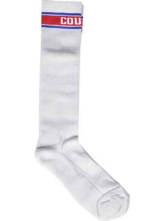 Marcelo Burlon Ribbed Knit Socks