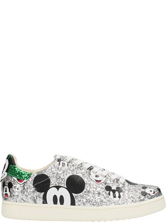M.O.A. master of arts Mickey Silver Glitter Sneakers