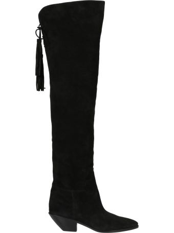 Saint Laurent Knee-length Tassel Boots