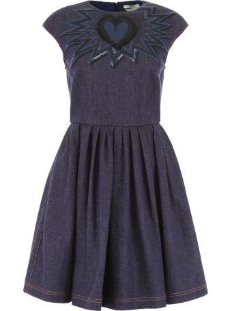 Fendi Denim Dress With Embroidery