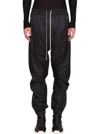 Rick Owens Black Nylon Track Pants